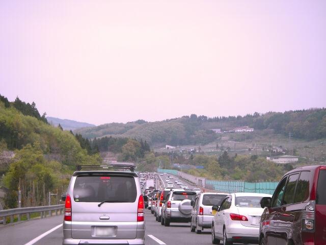 渋滞した道路